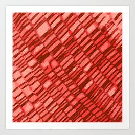 red structure Art Print