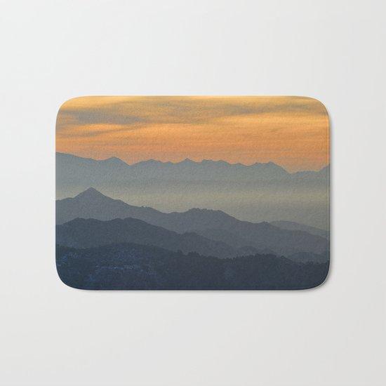 Sunset at the mountains Bath Mat