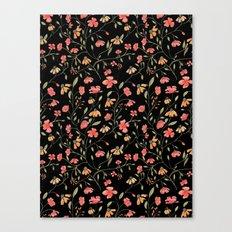 Dark Floral Pattern Canvas Print