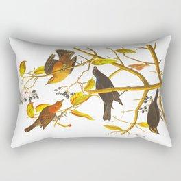 Rusty Grackle Bird Rectangular Pillow