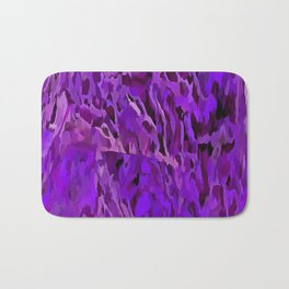 Distressed Violet Tree Bark Abstract Bath Mat