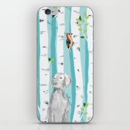 WEIMARANER AND WOODPECKERS iPhone Skin
