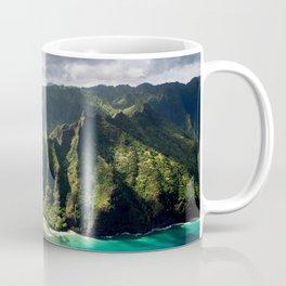 Na Pali Coast Aerial of Kauai Hawaii Coffee Mug