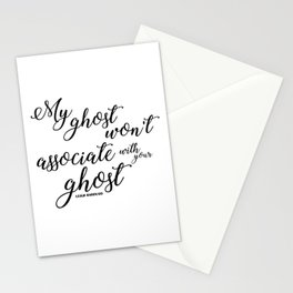 ghost (six of crows) Stationery Cards