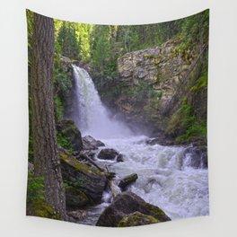 Sutherland Falls BC,Canada Nature Scene Wall Tapestry