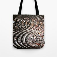 glass Tote Bags featuring Glass by KunstFabrik_StaticMovement Manu Jobst