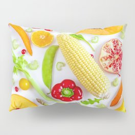 Fruits and vegetables pattern (12) Pillow Sham