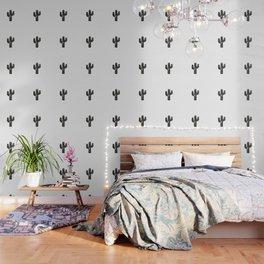 Stamped Cactus Wallpaper