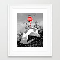 toilet Framed Art Prints featuring Roadside toilet by Vorona Photography