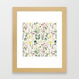 WILDFLOWER STUDY Framed Art Print