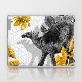 Jurassic Stegosaurus: Gold & Gray Laptop & iPad Skin