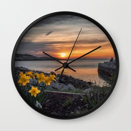 Sunset in Folly Cove 5-5-18 Wall Clock