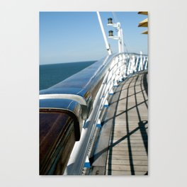 Ship Rail Canvas Print
