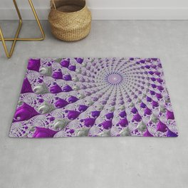 Tunnel Vision Purple Rug