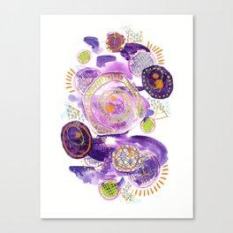 Amethyst Circle Collage Canvas Print