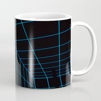 tron Mugs featuring Tron Lines by Kookyphotography