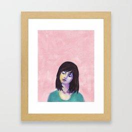Bella in Peony Framed Art Print