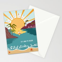 It's okay to relax Stationery Cards