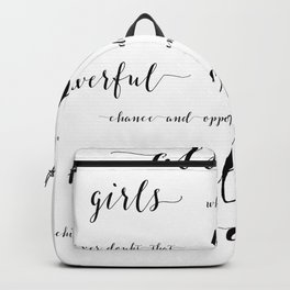 hillary clinton quote Backpack