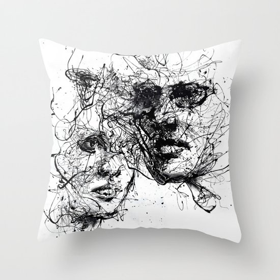 our lines, our story, it isn't a linear path Throw Pillow