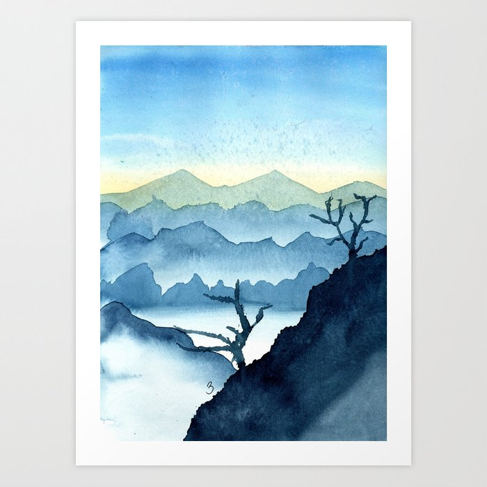 The Blue Ridge Art Print