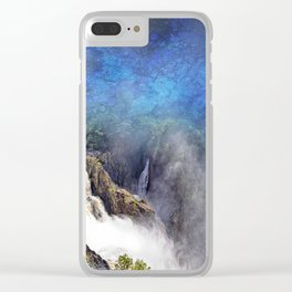 Wild waterfall in abstract Clear iPhone Case