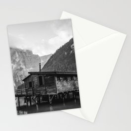 House on Water (Black and White) Stationery Cards