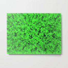 Fiery Green Metal Print