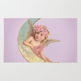 Victorian Moon Angel Rug