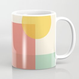 Abstract Shapes 2 bright  Coffee Mug
