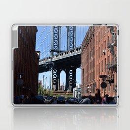 Empire State Building - Through Manhattan Bridge Laptop & iPad Skin