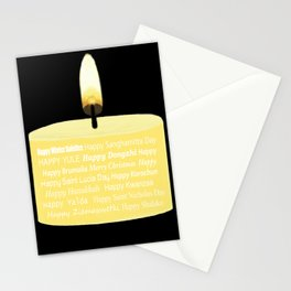 Happy Holidays Candle Stationery Cards