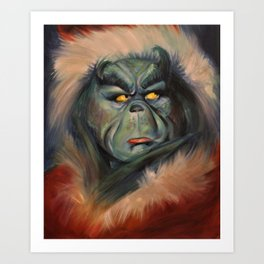 The Grinch Who Stole Christmas Art Print