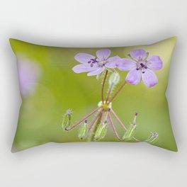 "Purple wildflowers ""Erodium malacoides"" Rectangular Pillow"