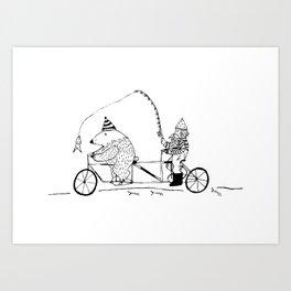 Bear Bait Art Print