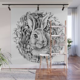 "Spring rabbit. From the series ""Seasons"" Wall Mural"