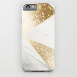 Elegant Marble and Gold Abstract Design iPhone Case
