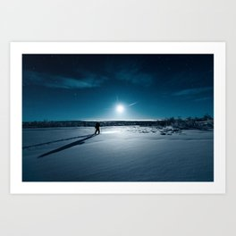 Guided by Moonlight Art Print