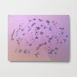 Vintage Lilac Wildflowers Metal Print