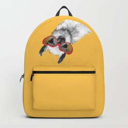 Fashion Hipster Llama with Glasses Backpack