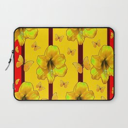 """FOR THE LOVE OF BUTTERFLIES"" RED-YELLOW ART Laptop Sleeve"
