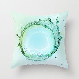 Water Splash Throw Pillow