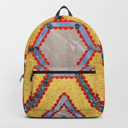 Golden Garnet Ornament (Premium Marble mandala) Backpack