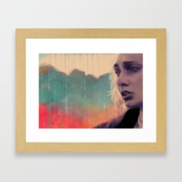 Blue sense8 Framed Art Print