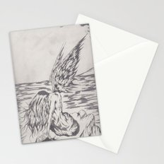 angel on rocks Stationery Cards