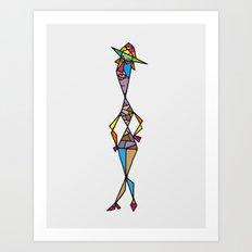 Madam fisherman Art Print
