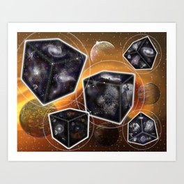 Universes in a Bubble Two Art Print
