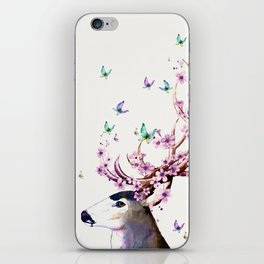Deer and Flowers II iPhone Skin