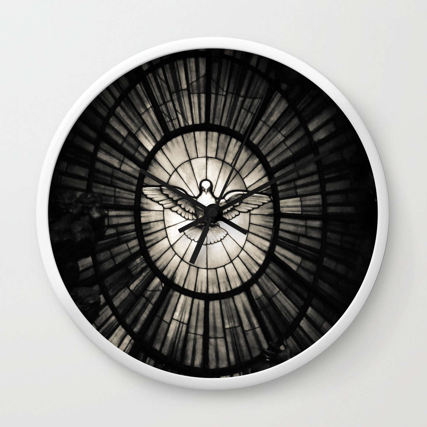 The Holy Spirit As A Dove Wall Clock By Inezwijkerphotography Society6