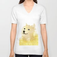 doge V-neck T-shirts featuring Doge by EtOfficina